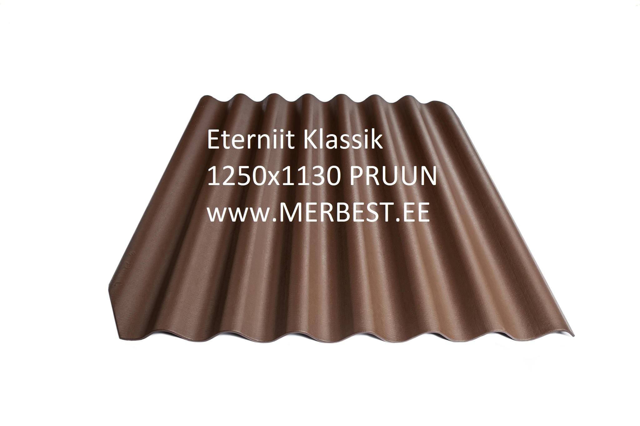 Eterniit Klassik, eterniitkatus, eterniidi müük, LEEDU ETERNIIT ETERNIIT KLASSIK 1250X1130 PRUUN