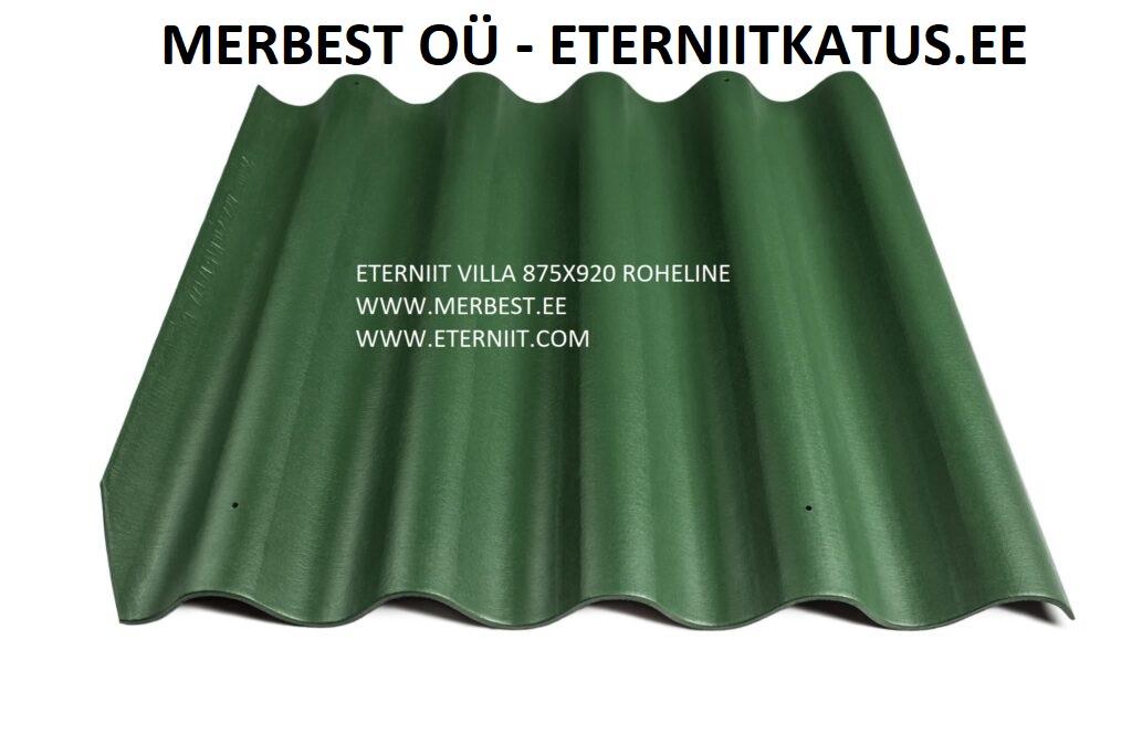 Eterniit roheline, eterniitkatus, merbest, merbest katused